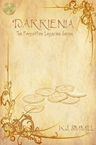 Darrienia, paperback cover, book cover, fantasy book cover